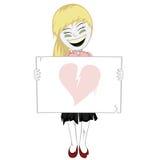 Żywy trup dziewczyna z whiteboard Obraz Royalty Free