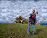 Żywy trup Nawiedzający Dom, Straszni Halloweenowi Żywi trupy Obrazy Stock