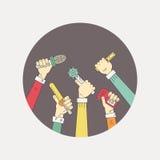 Żywy wiadomość logo Fotografia Stock