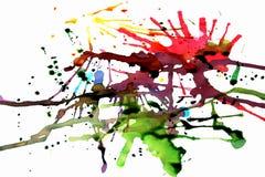 żywych splats farb drukarskich Zdjęcie Royalty Free