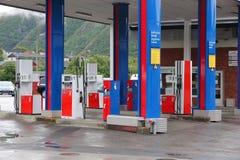 YX benzinestation Stock Afbeeldingen