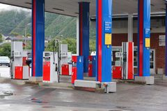 YX gas station Stock Images