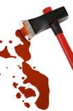 Yxa och blod Arkivfoton