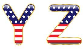 YZ patriotique illustration libre de droits