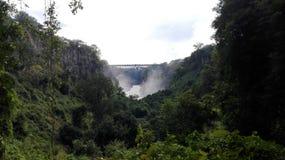 Zâmbia de ebulição de Zambezi River do potenciômetro Fotografia de Stock Royalty Free