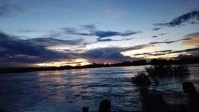 Zâmbia de Vicfalls Zambezi River Foto de Stock Royalty Free