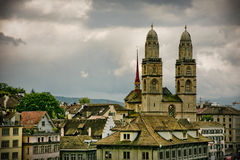 Zürich city Old Gross Muster Stock Photos