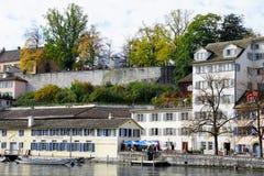 ZÃ ¼ bogaty miasto i kanton w Szwajcaria w Europa obrazy stock