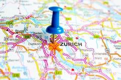 ZÃ-¼ Reiche auf Karte stockbild