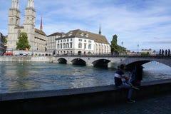 ZÃ-¼ reiche Stadt in der Schweiz Stockbild