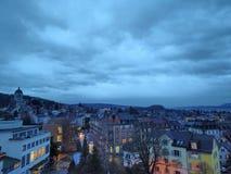 ZÃ-¼ Reiche bis zum Nacht Stockfotografie