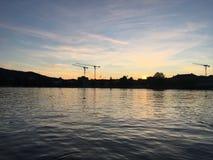 ZÃ-¼ Reiche Sonnenuntergang lizenzfreies stockfoto