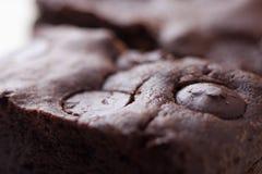 Zäher Fudge-selbst gemachte Schokoladenkuchen Lizenzfreie Stockfotografie