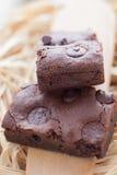 Zäher Fudge-selbst gemachte Schokoladenkuchen Lizenzfreie Stockbilder
