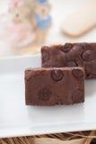 Zäher Fudge-selbst gemachte Schokoladenkuchen Stockfoto