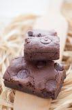 Zäher Fudge-selbst gemachte Schokoladenkuchen Lizenzfreie Stockfotos