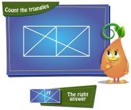 Zählen Sie die Dreiecke 12a Stockbild