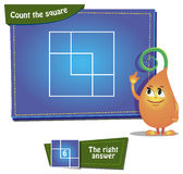 Zählen Sie die Quadrate Lizenzfreies Stockfoto