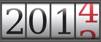 Zähler 2014 Lizenzfreies Stockfoto
