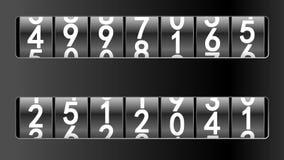 Zähler in den schwarzen Rahmen stock abbildung