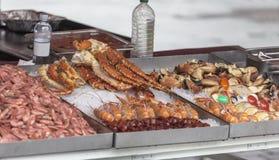 Zähler mit Meeresfrüchten Lizenzfreies Stockfoto