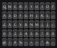 Zähler mit Stellen und Buchstaben vektor abbildung