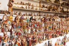 Zähler mit Zahlen für die Schaffung von Weihnachtsszenen am Weihnachten Lizenzfreie Stockbilder