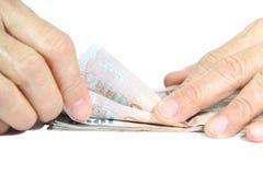 Zählt das Geld Lizenzfreie Stockbilder