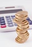 Zählung der Kosten Lizenzfreie Stockfotos