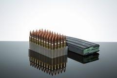 223 Zählung der Munition 50 Stockfotografie