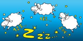 Zählung der Schafe Lizenzfreie Stockfotos