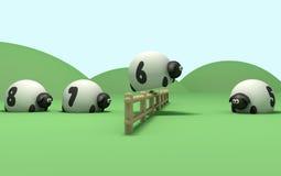 Zählung der Schafe Stockbild