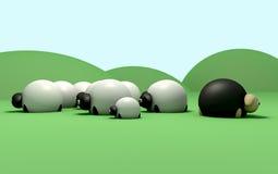 Zählung der Schafe Stockfotos