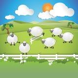 Zählung der Schafe stock abbildung