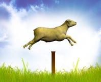 Zählung der springenden Schafe Lizenzfreie Stockfotografie