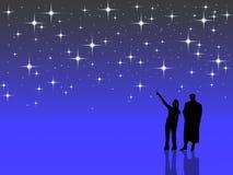 Zählung der Sterne Stockfotografie