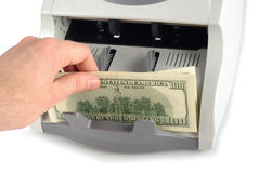 Zählung des Geldes Lizenzfreies Stockbild