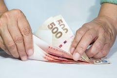 Zählung des Geldes Lizenzfreies Stockfoto