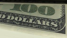 Zählung des Geldes 100 USA-Dollar-Banknoten stock abbildung
