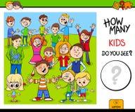 Zählung des Kindercharakterlernspiels für Kinder lizenzfreie stockfotografie