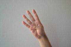 Zählung mit den Fingern lizenzfreies stockbild
