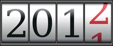 Zählwerk des neuen Jahres Lizenzfreies Stockbild