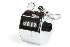 Zählwerk mit neuem 2012 Jahr Lizenzfreies Stockfoto