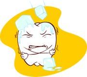 Zähne empfindlich mit Kälte - Illustration lizenzfreie abbildung