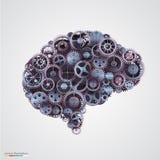 Zähne in Form eines menschlichen Gehirns Lizenzfreies Stockbild