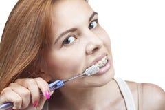 Zähne und Klammern Stockfoto