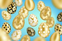 złoci tło jajka royalty ilustracja