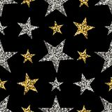 Złota i srebra gwiazdy ilustracji