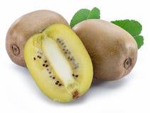 Złote kiwi owoc lub Chińscy agresty odizolowywający na białym tle zdjęcie stock