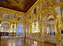 Złoty błyskotliwy luksusowy cesarski pałac obrazy stock